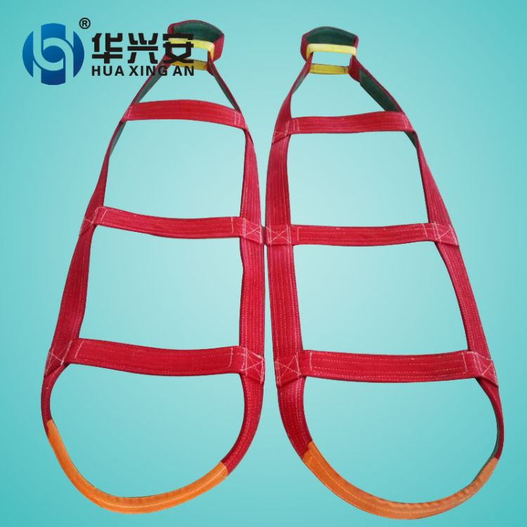 5T3M加厚防割耐磨聚氨酯涤纶纤维裸包玻璃专用起重吊装带子保护层