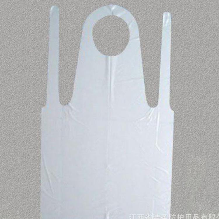 厂家直销一次性PE围裙 CPE围裙 防水防油围裙 家用塑料围裙