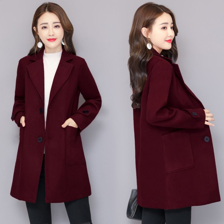 2018冬季新款秋季双面羊绒大衣女外套宽松中长款毛呢大码双面呢女