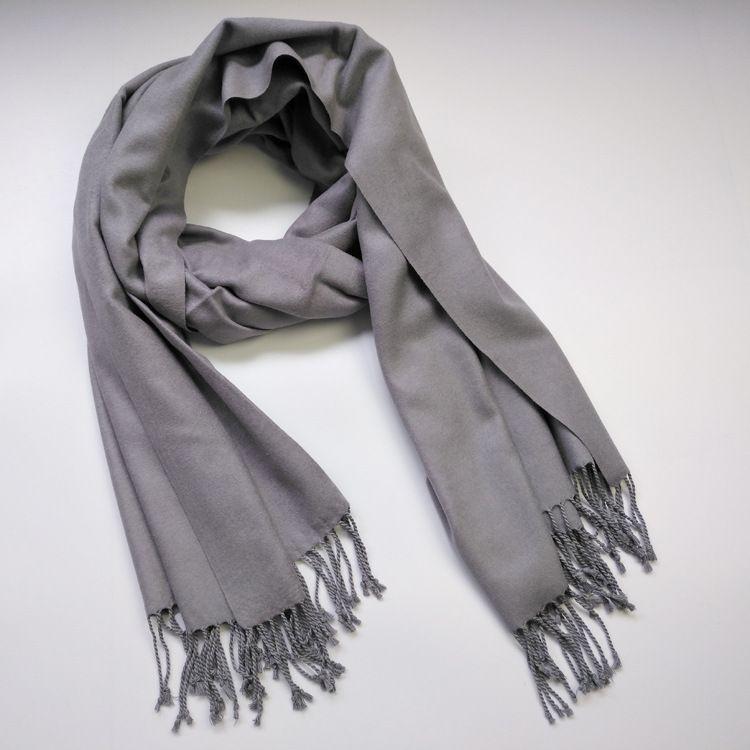 秋冬新款披肩女款真丝拉绒纯色披肩加大保暖拉毛工厂现货促销