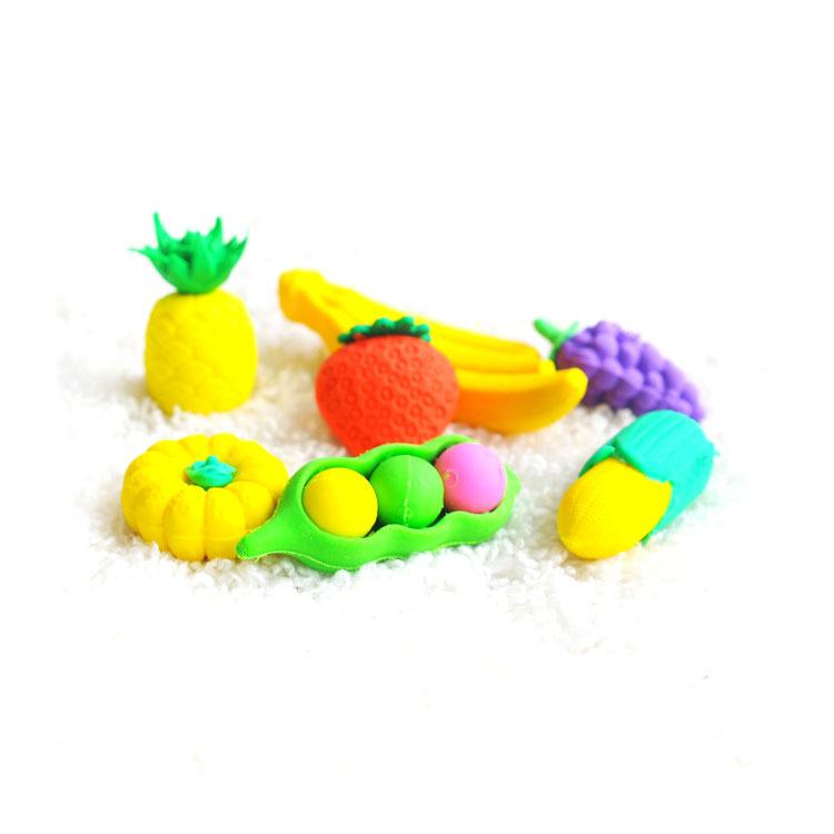 小咕咚创意水果散装卡通造型橡皮擦 糖葫芦豆角玉米红萝卜橡皮擦