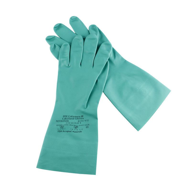雷克兰EN15F丁腈橡胶手套 防滑防化学手套 耐酸碱耐腐蚀手套批发
