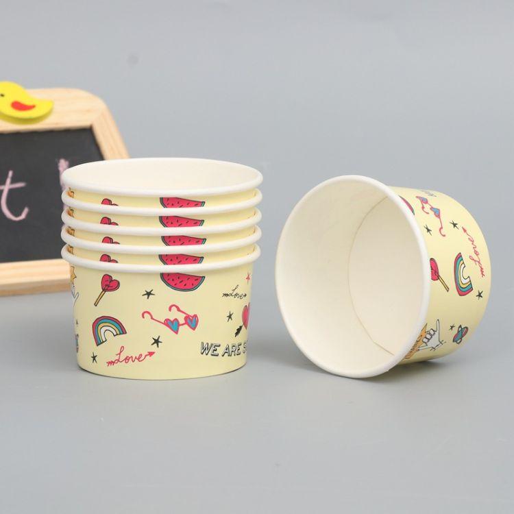 一次性纸杯纸碗定制外卖打包碗快餐饭盒汤碗小吃碗多种规格批发