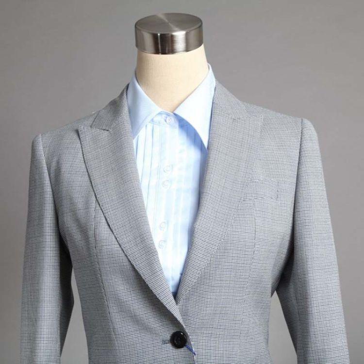 江苏阳光厂家直销千鸟格时尚修身 女职业西服套装 白领求职西服
