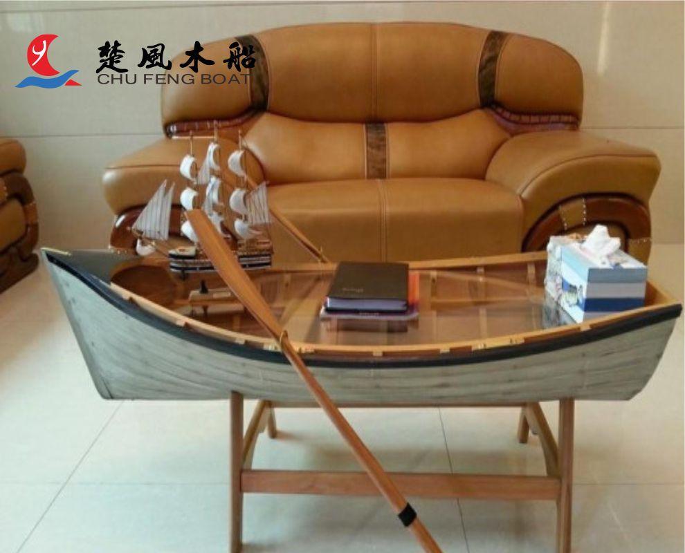 特色船型家具 装饰船 创意船型茶几 展示台 主题吧台 景观装饰