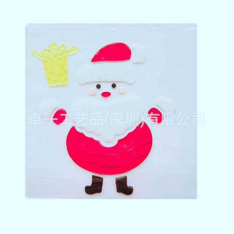 圣诞老人贴画圣诞节装饰品 新款TPR果冻胶环保冰箱贴