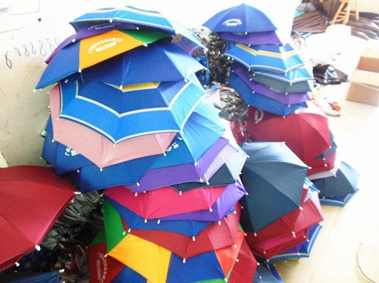 义乌厂家帽子伞伞帽钓鱼伞户外活动用具儿童玩具伞可定制订做直销