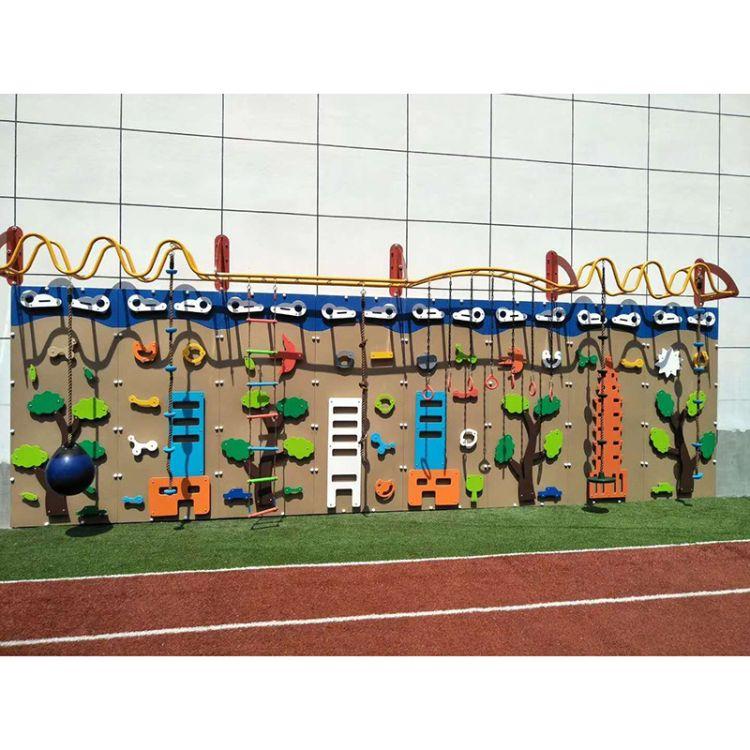 幼儿园攀岩墙    室外拓展攀爬架   木质儿童攀登架  大型游乐攀爬墙定制