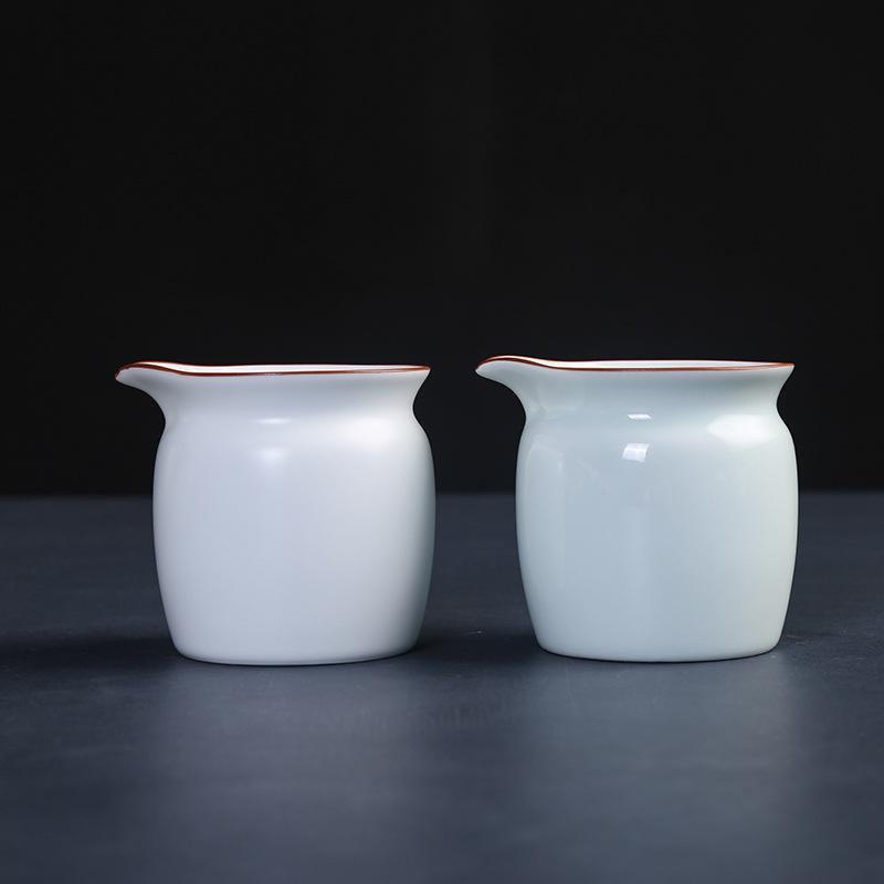 陶瓷公道杯加厚茶海青瓷定窑亚光功夫茶道分茶器均杯简约日式公杯