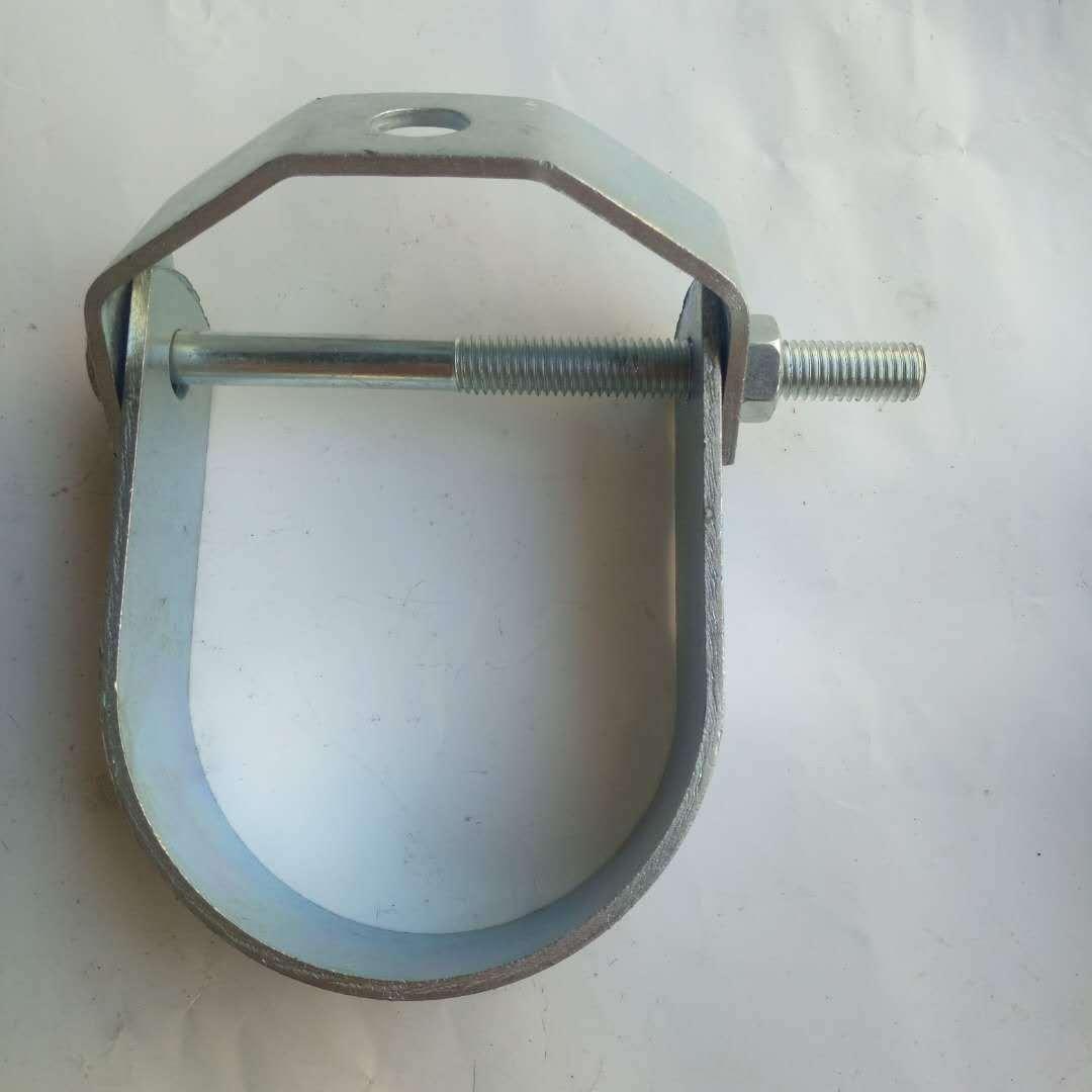 河北固昌厂家现货供应抗震支架配件 马蹄卡 抗震管卡 管道吊环 U型管夹  质量上乘-  价格合理
