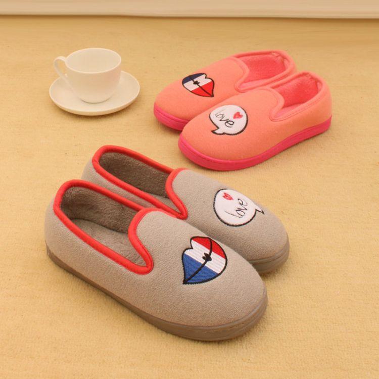 新款可爱棉拖鞋 家居鞋针织面防滑大底舒适柔软多色可选厂家批发