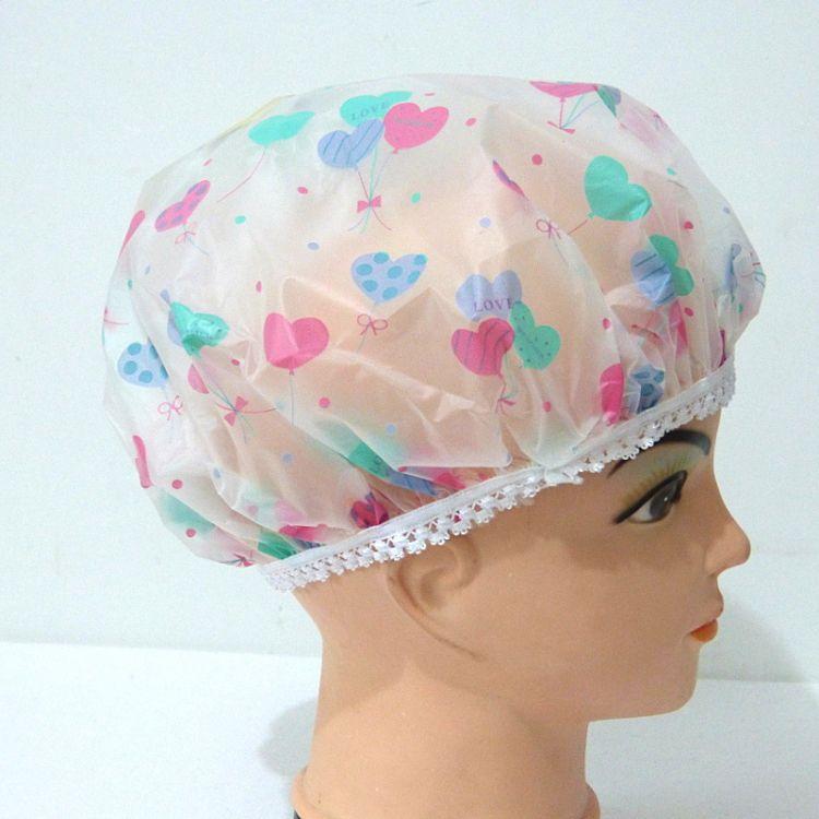 浴帽防水成人PVC印花女洗澡帽护发沐浴帽批发厂家外贸定做