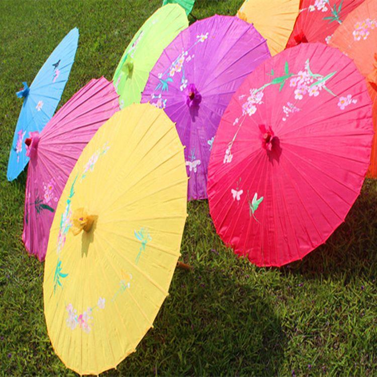 旅游景区 传统手工大布伞 旅行油纸伞 手绘工艺伞 舞蹈表演道具伞