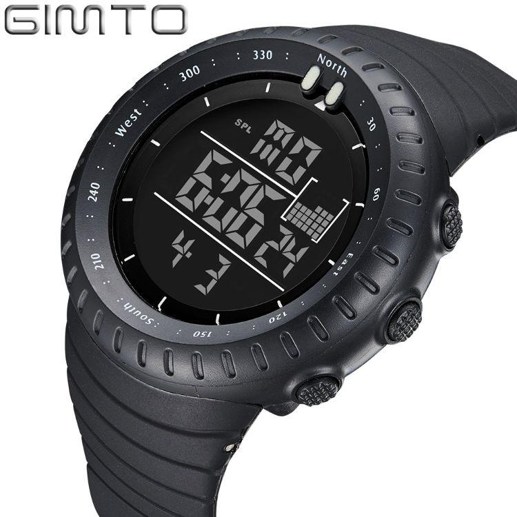 亚马逊劲拓外贸防水电子多功能户外运动登山男士腕錶时尚手表工厂