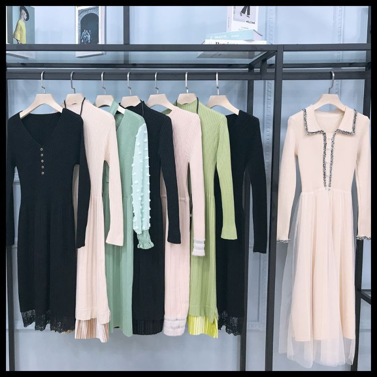 韩版当季新款连衣裙秋装品牌折扣女装2019新款尾货剪标正品女装