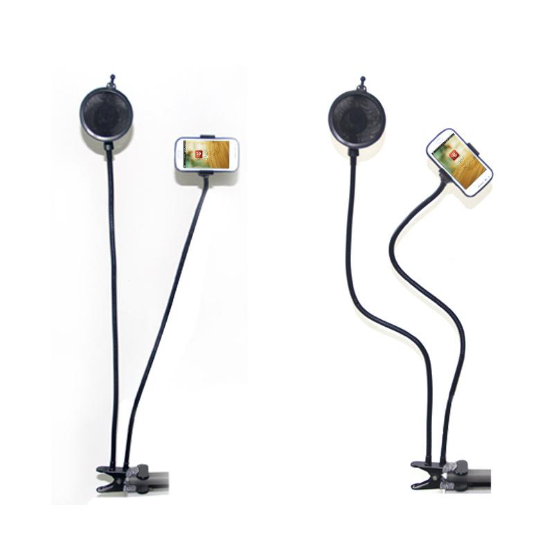 途讯手机K歌宝无线麦克风话筒支架 录歌MV通用弹簧夹创意直播支架