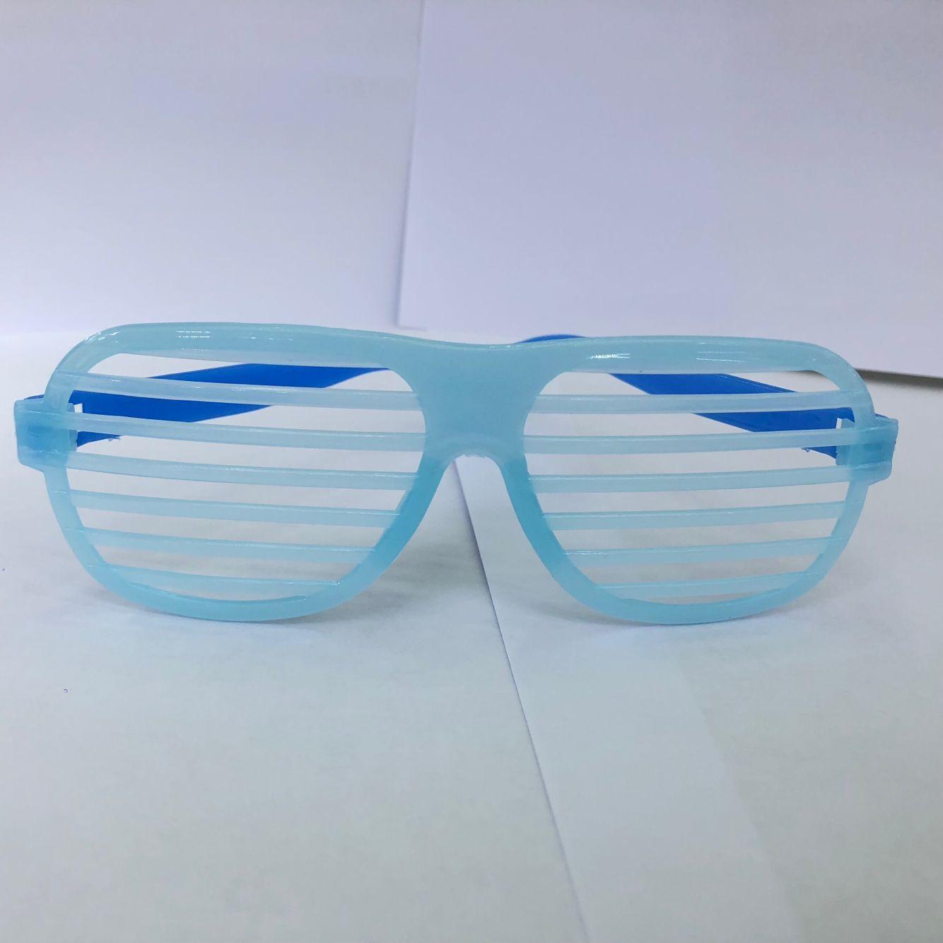 厂家直销 夜光百叶窗  party眼镜   狂欢节眼镜