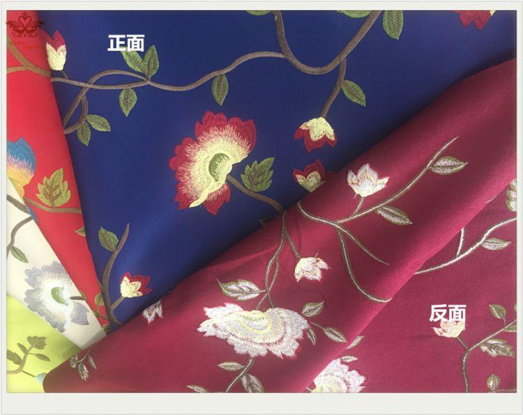 中国风新中式布料罗汉椅垫面料实木靠垫抱枕布江南刺绣提花沙发垫