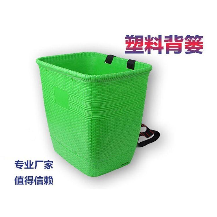 四川江湖地摊产品塑料背篼仿竹编塑料背篓新料收纳背筐厂家直销