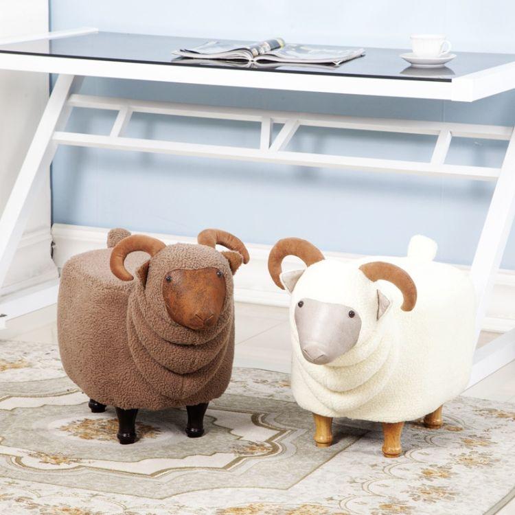 欧式山羊坐凳换鞋凳沙发凳门口穿鞋凳 换鞋凳 多功能组装可拆洗