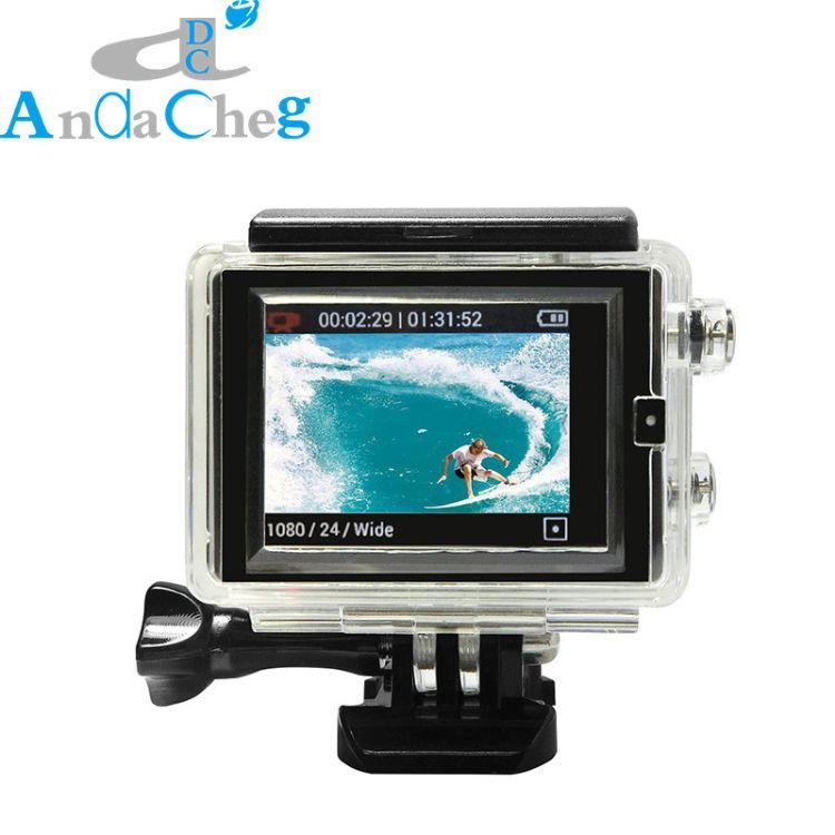 ANDACHEG gopro 触摸防水壳加高 hero3+4可用 外接LCD触控屏
