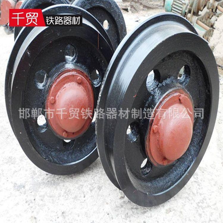 供应铁标矿车轮  地轮  窑车轮 铁路矿山配件  铸钢实心轮