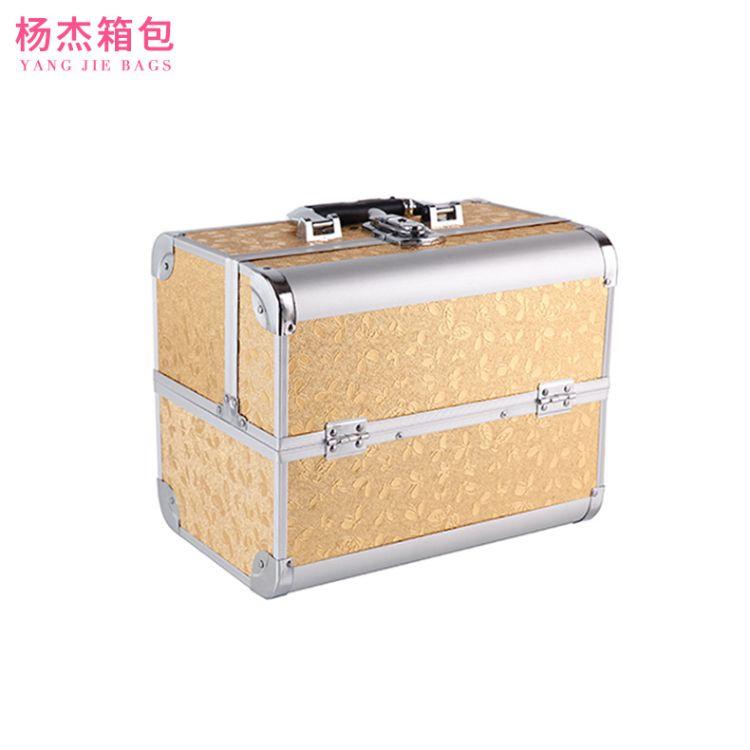 大容量多夹层手提化妆箱 多功能美甲纹绣师化妆师工具箱可批发