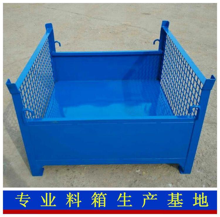 供应工业企业指定  固定料箱  铁皮料箱  生产厂家
