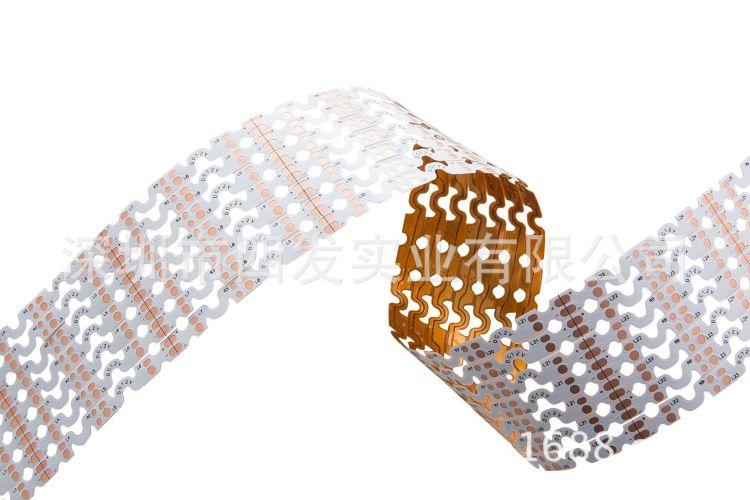 厂家直销灯条线路板1.2米长单面led软灯条线路板pcb吸顶灯电路板