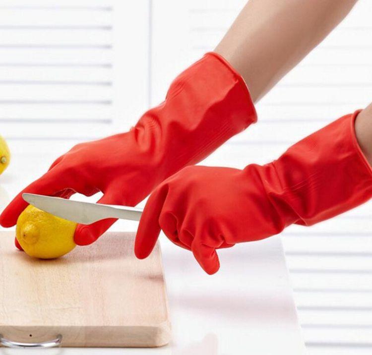 玺 洋洋~厨房家用加厚保暖手套、加绒乳胶、洗衣洗碗手套