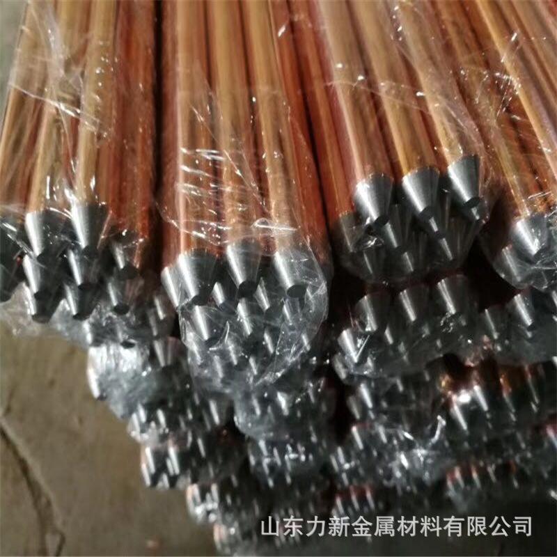 厂家供应 镀铜接地棒 防雷接地铜包钢接地极 14.2 16mm接地棒