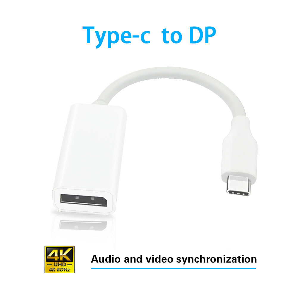 USB3.1数据线 TYPE-C TO DP/F转换线USB3.1 TO DP F USB 3.1转DP