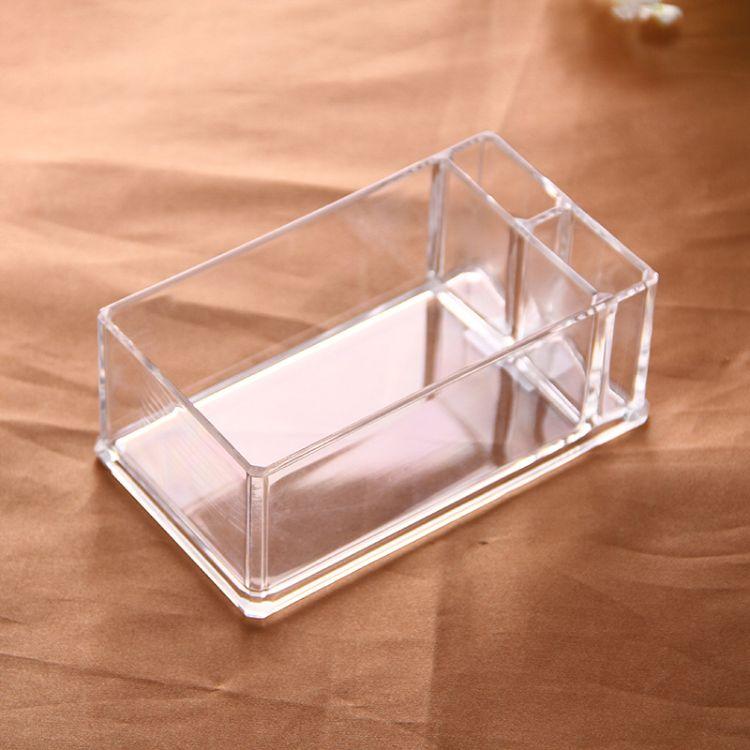 厂家批发酒店亚克力方形水晶透明纸巾盒欧式酒吧亚克力餐巾架定制