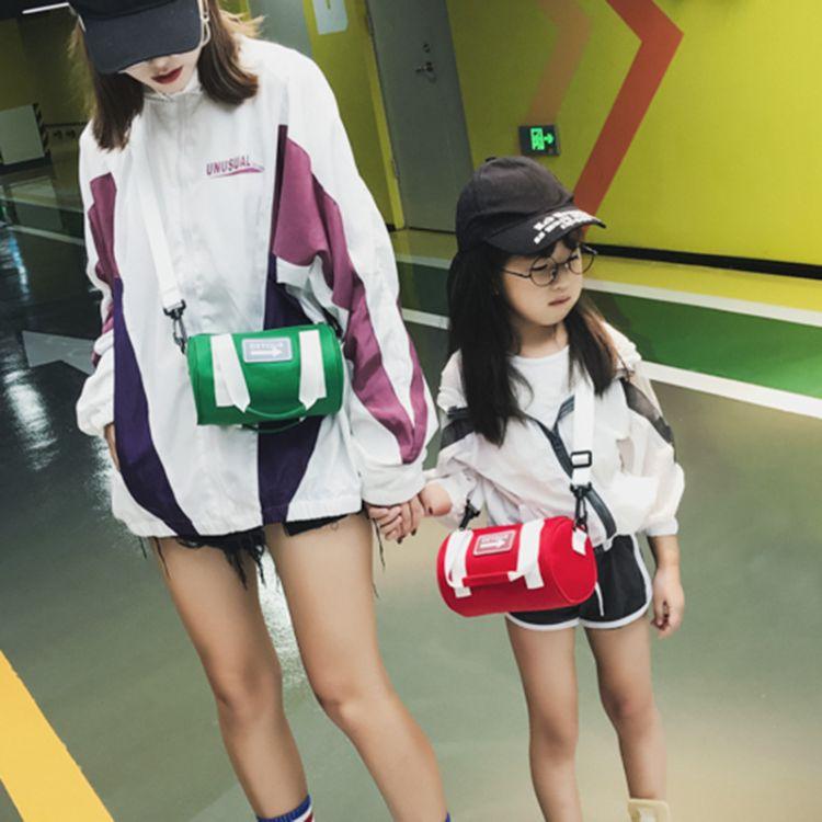 儿童包包新款韩版亲子单肩斜跨包可爱迷你超轻枕头小包包一件代发