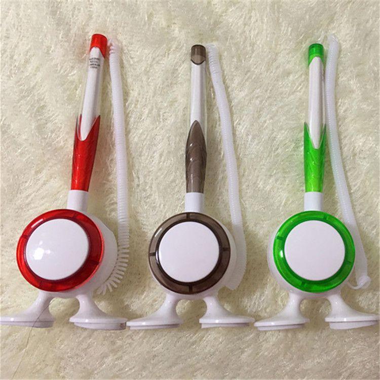 厂家直销银行台笔 广告圆珠笔 促销礼品笔 塑料笔 定制印刷logo