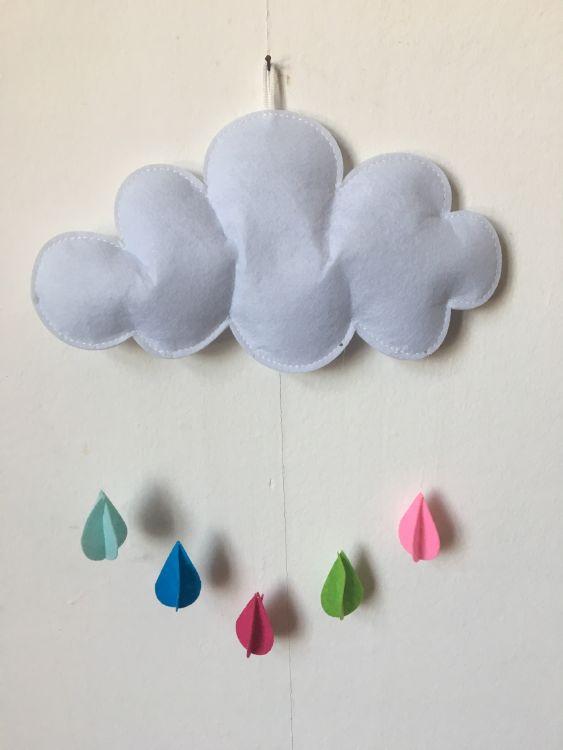 宁海亿佳 儿童帐篷配件装饰手工云朵雨滴不织布艺挂饰