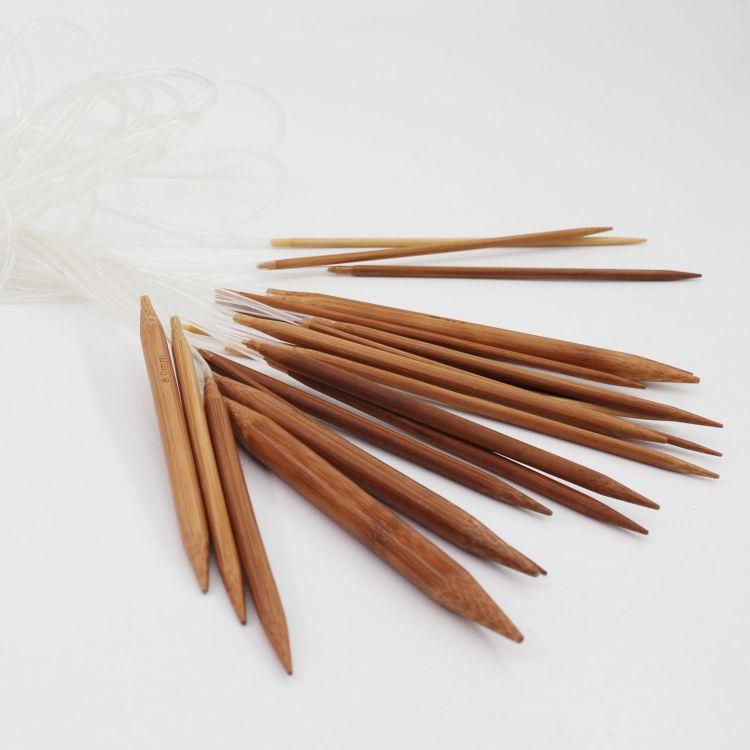 80cm竹环针循环针塑料胶管环形竹碳蛇针编织工具竹炭环针