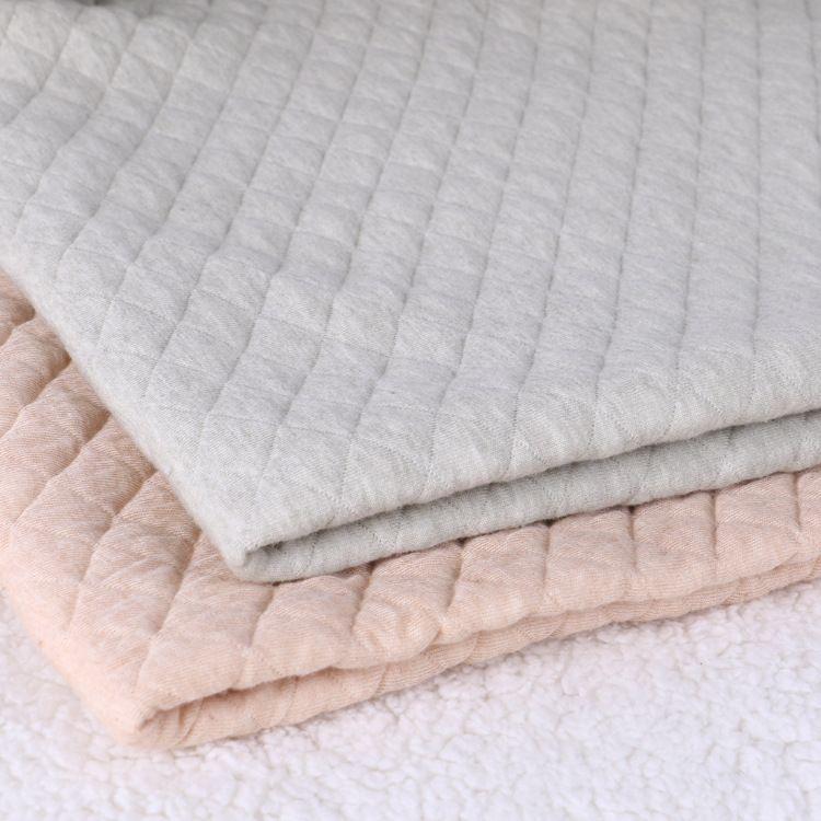 有机天然彩棉空气层 婴幼儿面料 保暖夹层布  加厚保暖布 现货