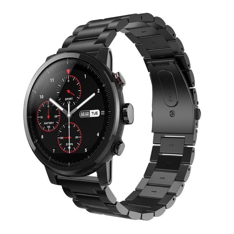 华米AMAZFIT2不锈钢三珠表带智能手表用金属带