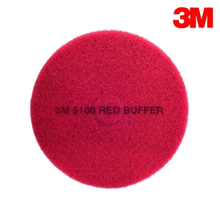 [现货]3M红色百洁垫17寸5100日常清洁垫大理石刷片红擦片5片/盒