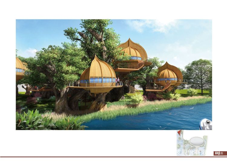 广州松涛工艺专业设计造型别墅自然景区休闲独立度假木树屋定制