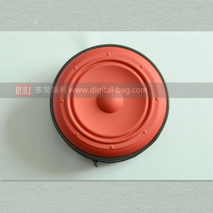 PU面24碟装防震防水碟包 EVA时尚圆纹CD包 出口单 工厂定制
