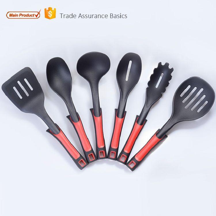 厂家直销尼龙厨具6件套装不粘锅厨房用品塑料厨具耐高温烹饪勺铲