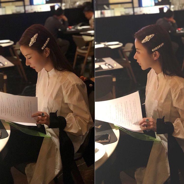 睿娜 韩国气质手工编织珍珠发夹女个性百搭一字夹时尚淑女刘海夹