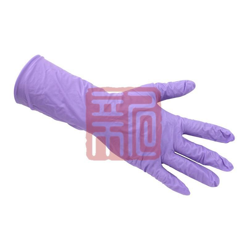 金佰利97613紫色丁腈加长防静电手套 家用清洁无菌手套