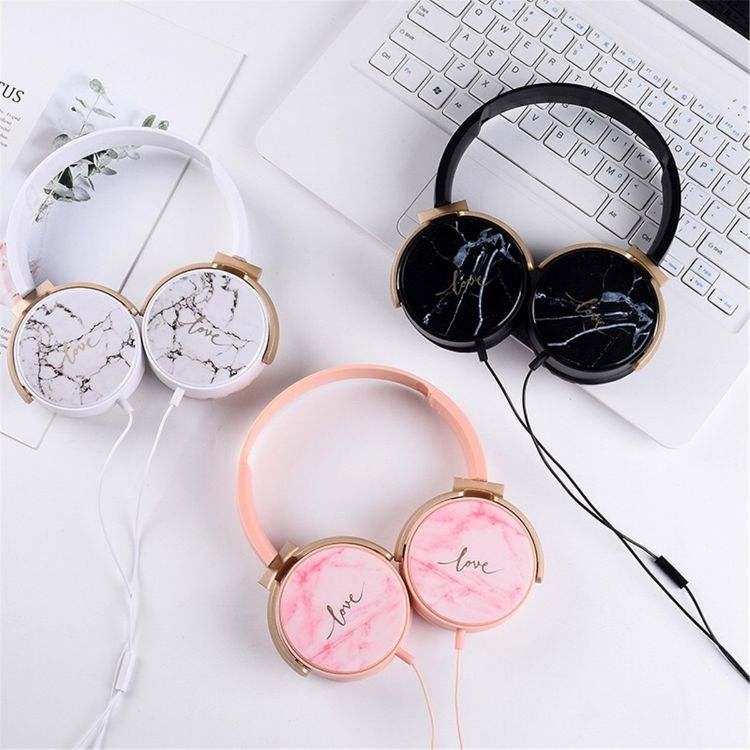 Ear'Sir头戴式大耳机带唛可语音大理石水墨纹路高雅美观舒适EX25