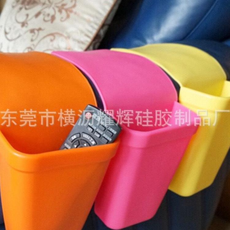 厂家批发硅胶收纳袋 车载用办公室用居家用创意实用硅胶收纳桶