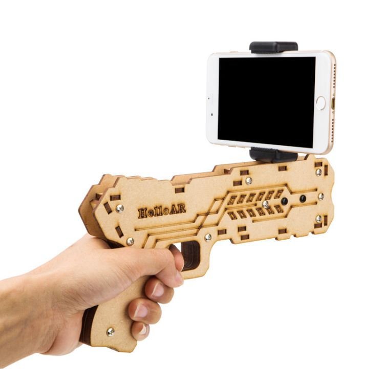 HELLO AR增强现实游戏手枪减压玩具实物AR GUN手机游戏手柄现货