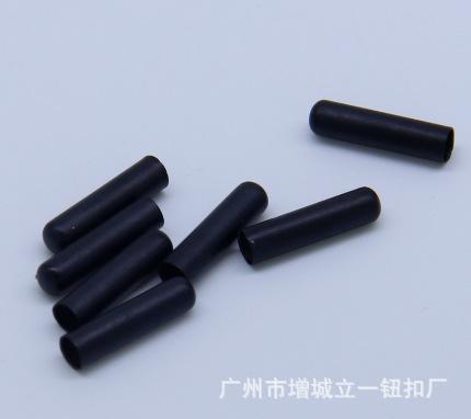 广州厂家金属拉伸无缝鞋带电泳哑黑铜管 铜套 子弹头 量大从优