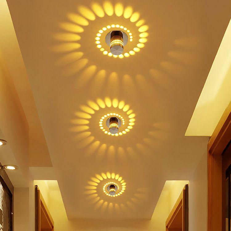 走廊灯过道灯射灯简约创意壁灯床头灯入户灯光效灯天花造型变色